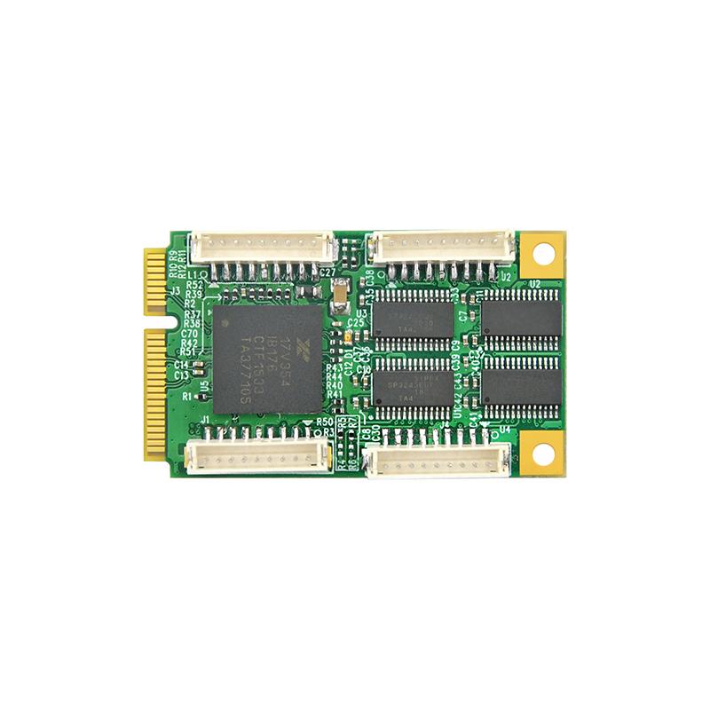 LRUA8254 Mini PCIe x1 四口RS232串口卡