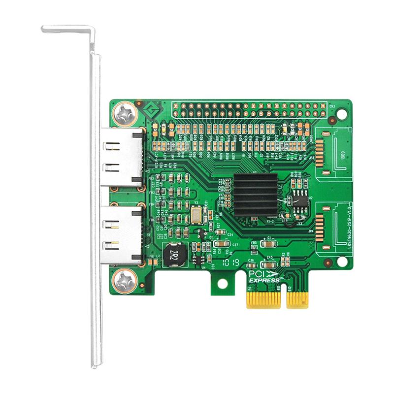 LRST9620-2E 6Gb PCIe x1 转 双口SATA3