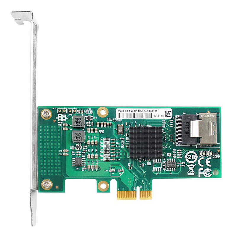 LRST9615-4I-X1 6Gb PCIe x1 转 四口SATA3