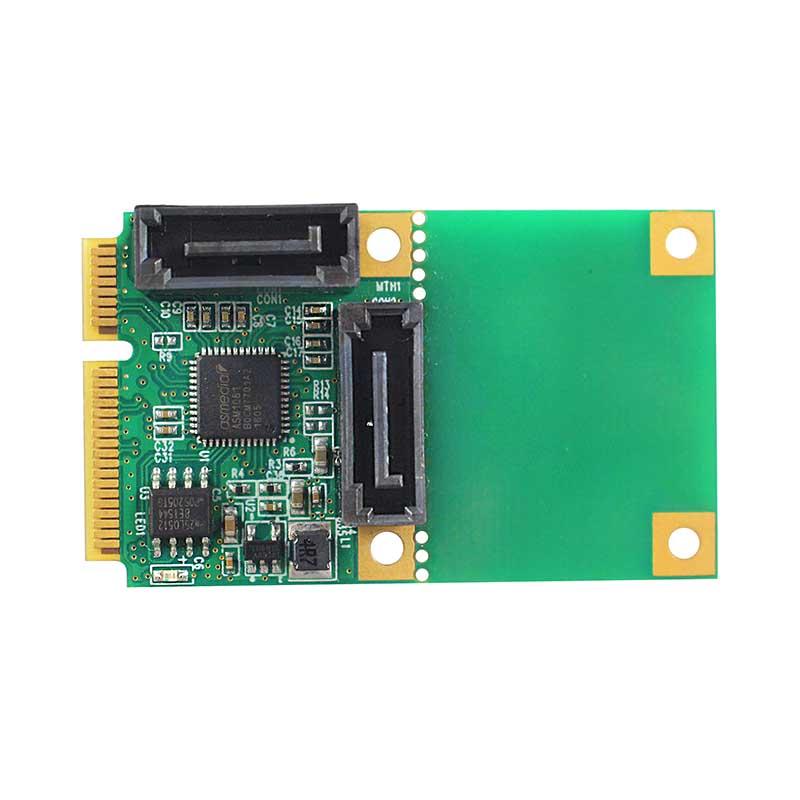 LRST8661-2I 6Gb Mini PCIe 转 双口SATA3