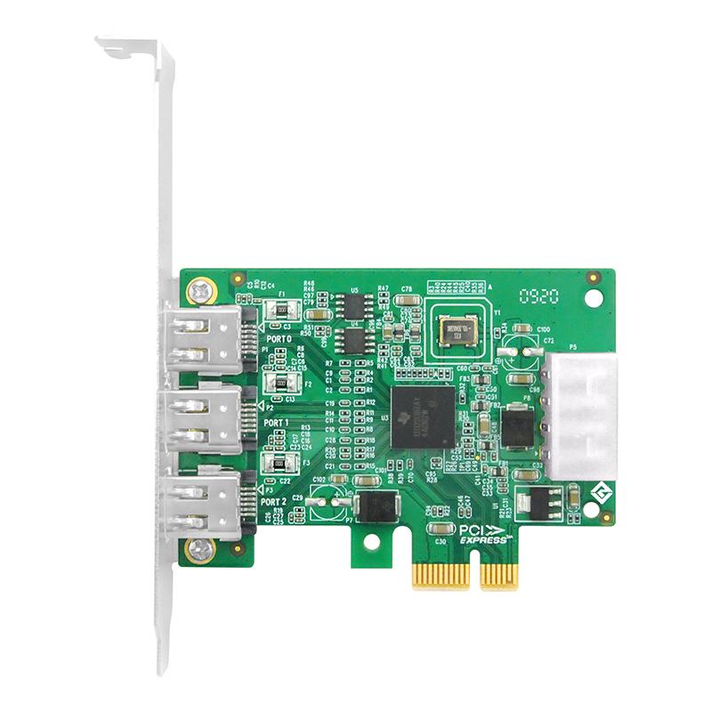 LRFW9D13-3A PCIe x1转三口1394A扩展卡