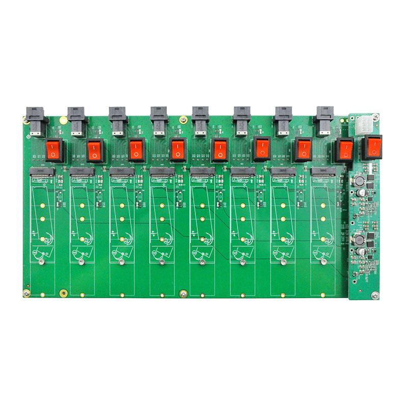 LRNV35N4-8I 8口M.2 SSD测试板
