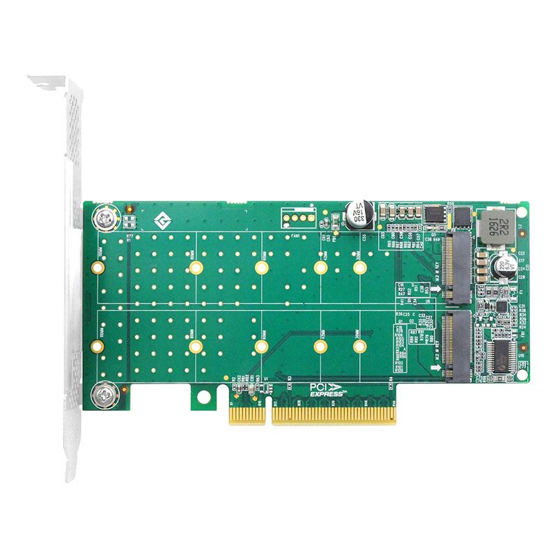 LRNV95N8 PCIe x8 转 双口M.2 NVMe
