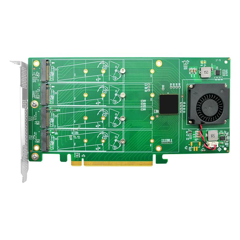 LRNV9547-4I PCIe x16 桥接 四口M.2