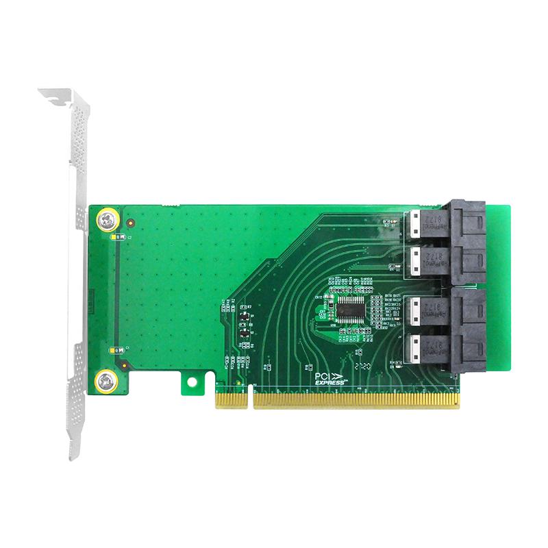 LRNV93NF PCIe x16 转 四口NVMe