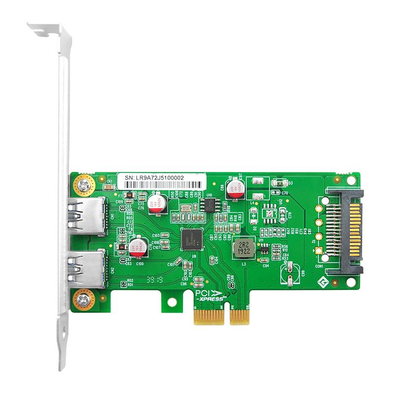 LRSU9A72-2A PCIe x1 双口USB3.0卡