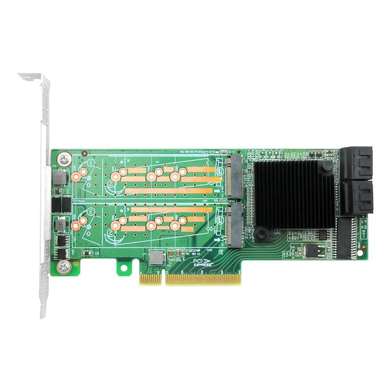 LRST9608-4M4S 6Gb PCIe x8 转 四口M.2 NGFF+四口SATA