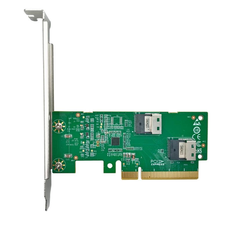 LRNV9F12 PCIe x8 转 两口NVMe