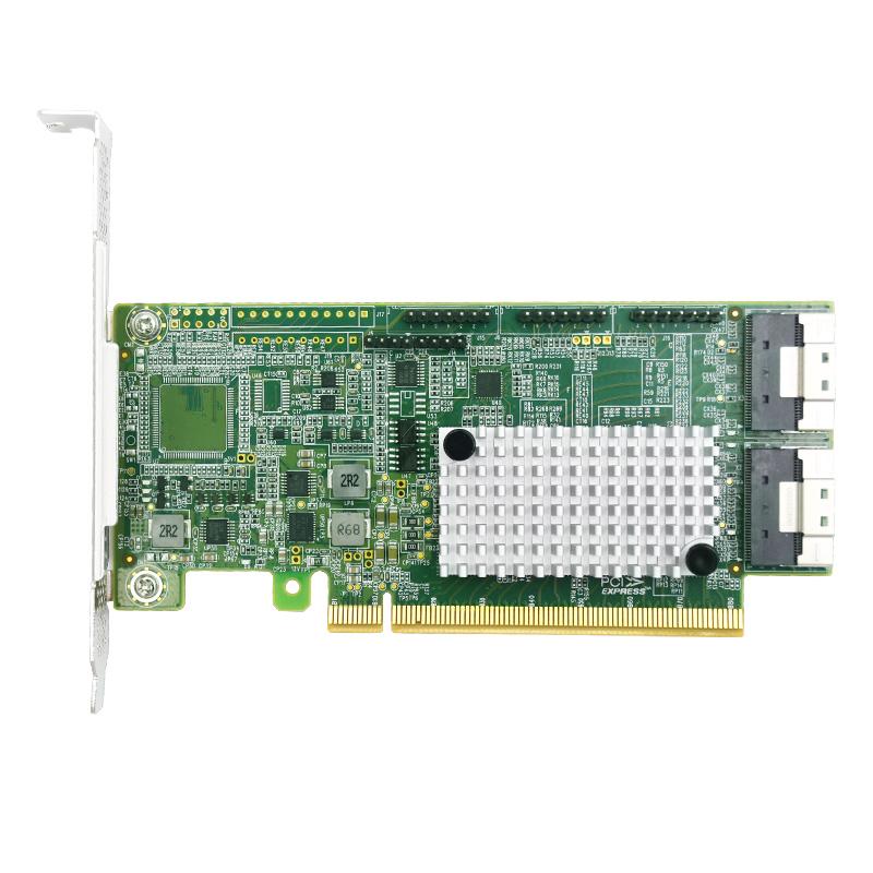 LRNV9F24 PCIe 4.0 x16 转 2口 SlimSAS SFF-8654